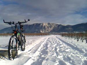 A vélo sur la neige