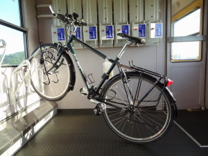 Bicycle in the train
