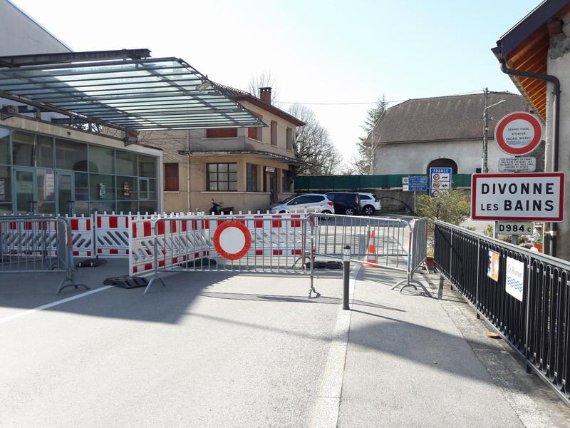 Frontière franco-suisse fermée surant l'épidémie de COVID-19